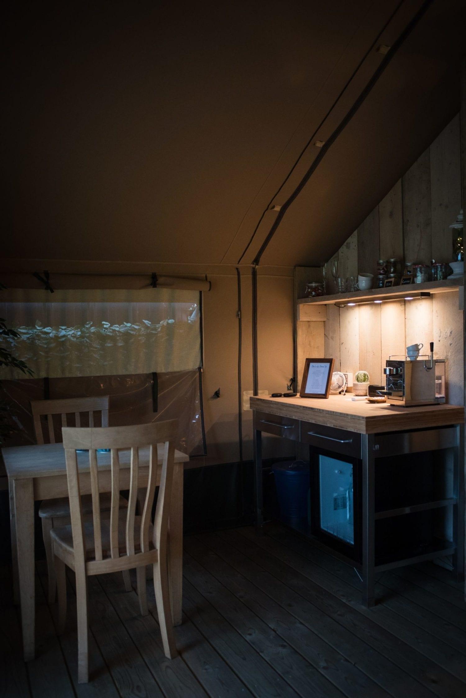 Glamping Interior at The Barn at Alswick